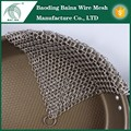 Pan cleaner stainless steel chainmail scrubber for brush