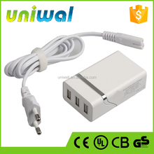 universal travel adapter usb, oem factory supply 5v 2a 3 usb ports charger