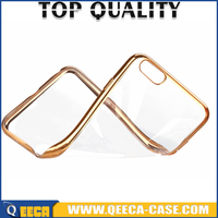 IN STOCK// transparent colorful electroplating case for iphone 6 tpu case