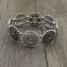 2016 Bohemian Bangle Women Jewelry Four Direction Pulseras Vintage 18mm metal ginger Snap Button Bracelet