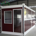 20ft 40ft comfortable living modular foldable container house