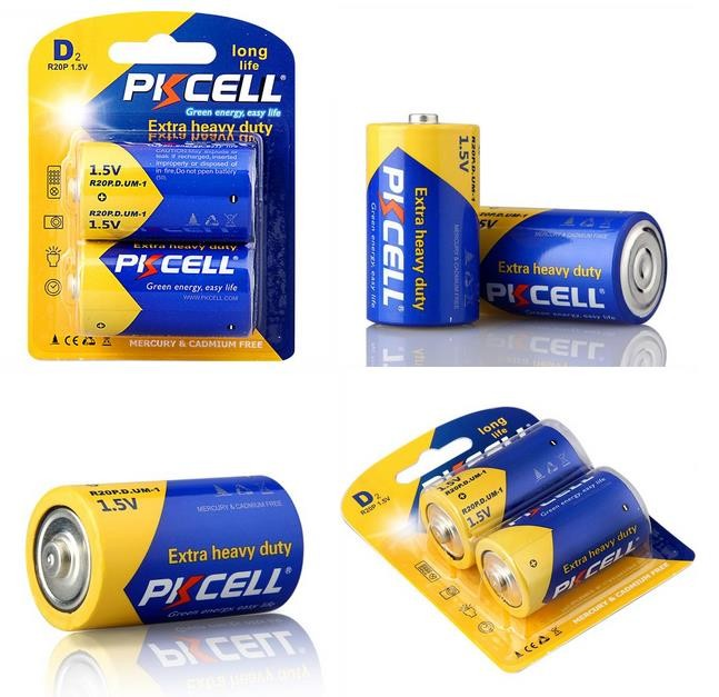 Primary & Dry Batteries 1.5V R20P D Size Dry Cell Battery Um-1 Super Heavy Duty Battery 720Min Duration Time