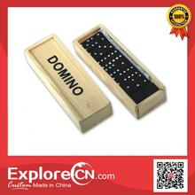 Popular traditional mini wooden domino with box