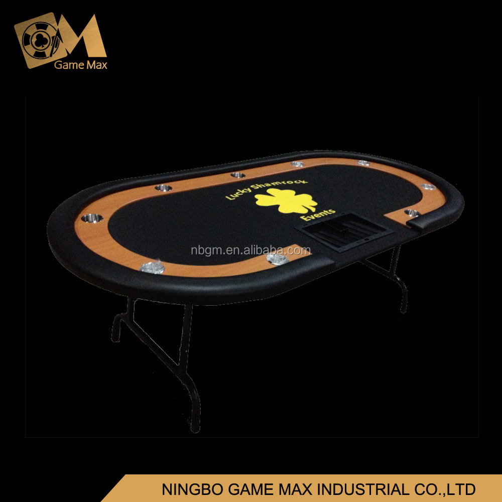 84 Inch Fold Iron Leg Speed Cloth Poker Table With Heat Sublimation Custom Printing