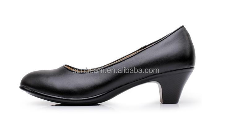 New arrival classical design cow leather upper dress shoe customs lady office shoes