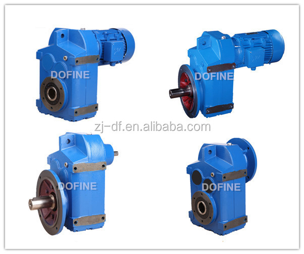 Shaft mounted helical gearmotor as Bonfiglioli F series parallel shaft gearbox