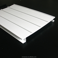 white color 4 Channels display for supermarket shelves Plastic PVC profile