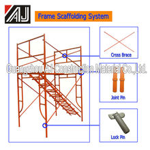 Guanzhou factory wholesale h frame type q235 steel scafolding