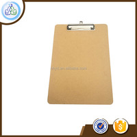 High sell Office Wood Clipboard With Flat Clip