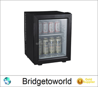 Single Door Electronic Refrigerated Display Cabinets Muted Green Hotel Room Mini Fridge Household Glass Door