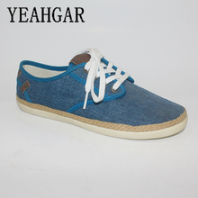 New Blue Wholesale Canvas Fabric Leather Shoes Women Sneakers in China