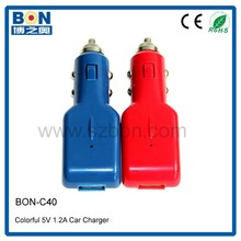 1amp usb car charger mini project/color phon car chargers