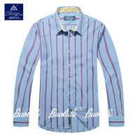 New Fancy design Casual Check / Stripe 100% Cotton Men's Shirts