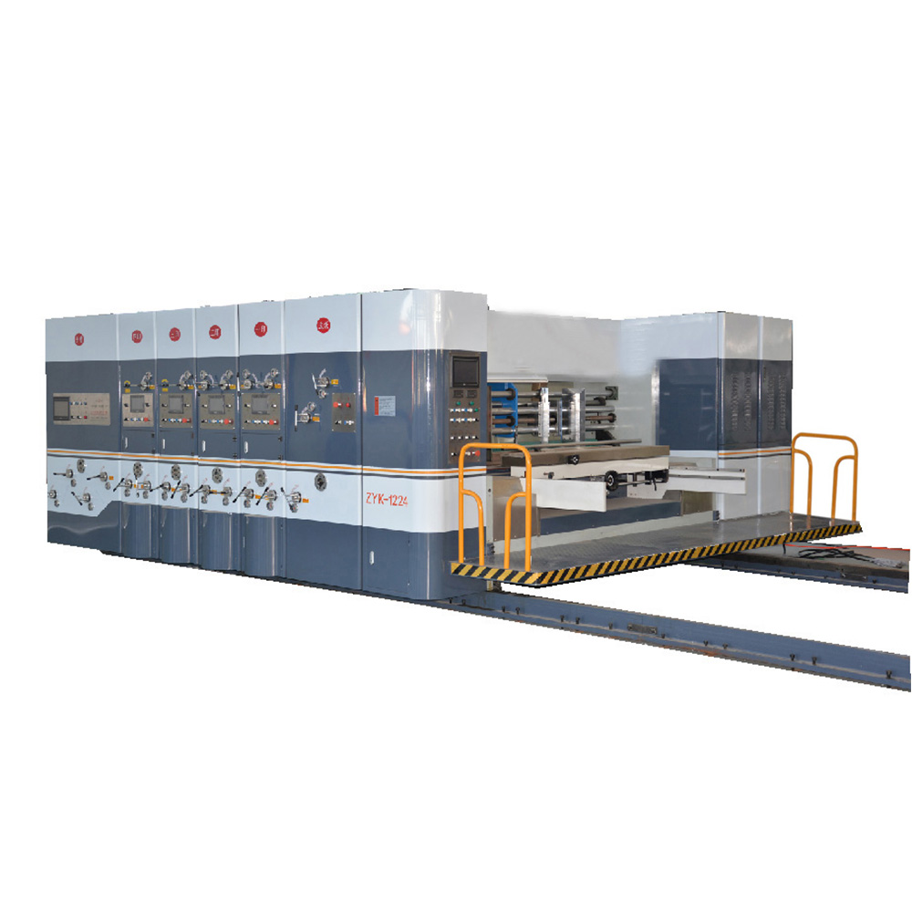 Carton printer rotary die cutter and slotter with slotting combined machine