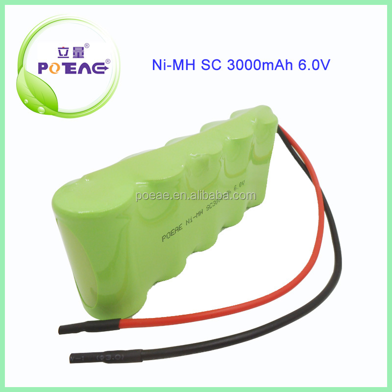SC 3000mah 6.0v nimh rechargeable battery pack for Emergency Light