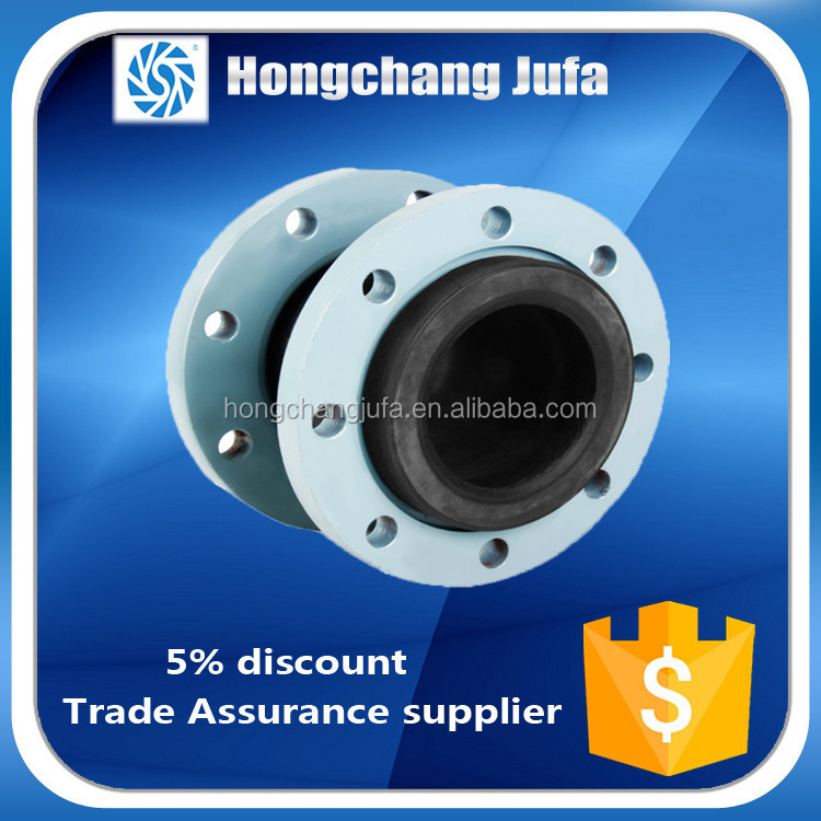 Best sell double flanged end flexible rubber bellows expansion joint