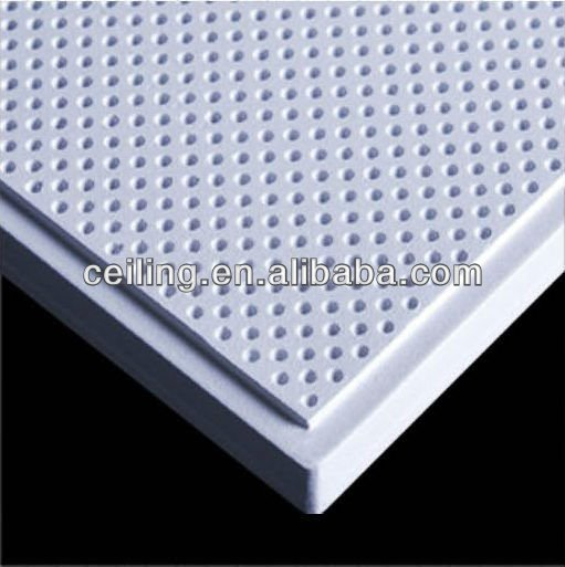 Acoustic perforated gypsum board plaster drywall ceiling