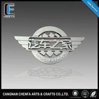 Customized decorative 3D ABS plastic auto emblem badge chrome famous car logo
