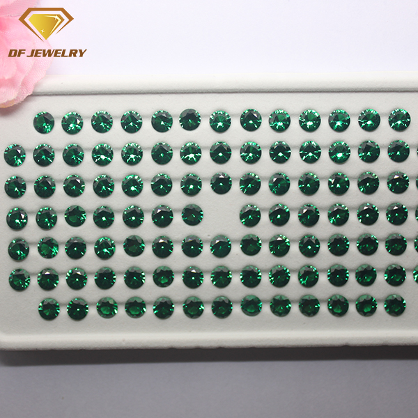Wholesale 5.00mm Round Emerald CZ Synthetic Stone for Making Jewellery