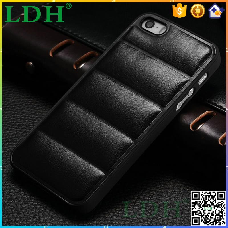 Hard PC back soft PU leather for Iphone 5 5S professional alibaba custom made case