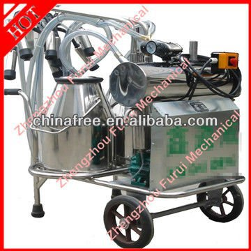 Stainless steel double buckets high configuration cow milking machine