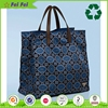 High-end fabric large nylon cloth tote bag with zipper closure