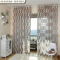 Dolly cutting flower 8 grommets geometric window curtain