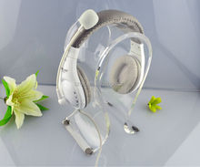 Clear desktop acrylic headphone display for retailers wholesale