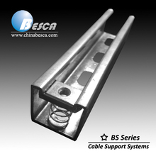 Hot dip Galvanized Steel Slotted Hole Unistrut C Channel On Sale