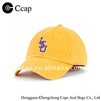 Embroidered fitted baseball cap