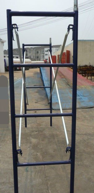 Blue Painted Scaffolding Narrow Frame/Ladder frame/Shoring Frame