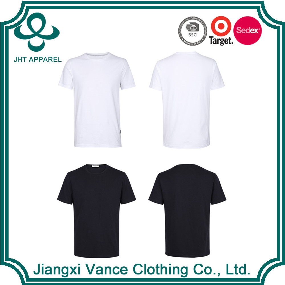 round bottom cheap chinese 50 cotton 50 polyester wholesale t shirts cheap plain white t shirts in bulk plain