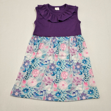 New Desgin Fancy Flower Sleeveless Kids Frock Designs Girl Dress