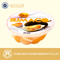 Plastic tray easy peelable PP/PVC/PET lidding film for durion flavour jelly cup