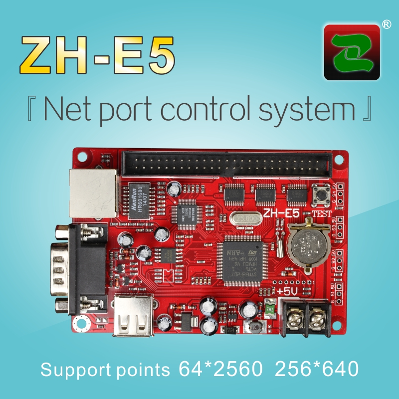 Zhonghang P10 Dual color Ethernet port led display screen video wall controller card