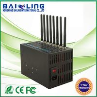 8 port modem pool UMTS/HSDPA bulk SMS device 3G dual sim modem