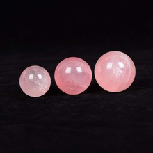 Natural pink Clear Crystal Ball