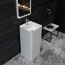 Solid surface bathroom freestanding basin made in China