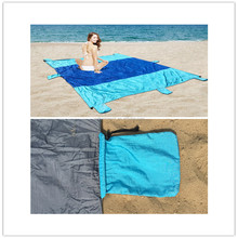 Parachute Nylon Sand proof Beach Blanket with Bag