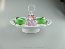 Colored mini cake stand in high fashion and quality, metal white cake stand