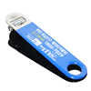 South Korea Custom Blue PVC Rubber Coated Print Logo Long Handle Stainless Steel Metal Custom Beer Opener Promotion