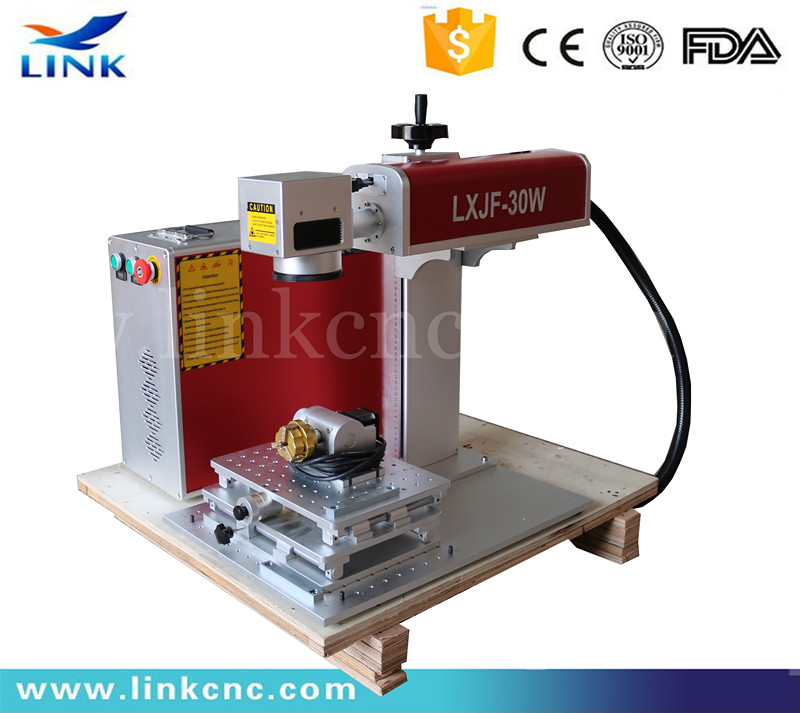Fiber laser marking machine price 20w 30w 50W with rotating system MAX/CAS/Raycus/IPG