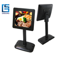 Pos Second Monitor Pole Stand 8 Inch LCD Monitor USB Powered For Advertising Display