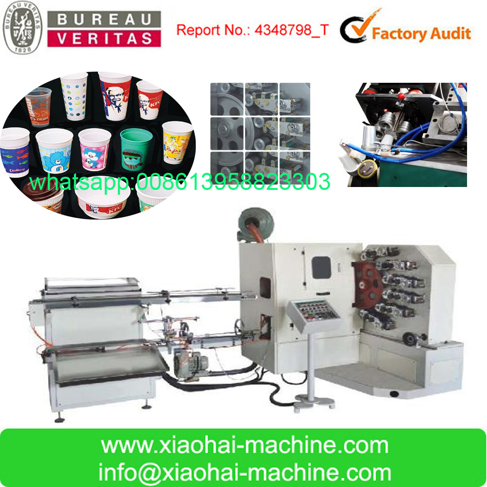 Six Color Disposable Plastic Cup Printing Machine For Juice ,Coffee ,Milk ,Yogurt
