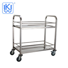 UKW Kitehenwares Stainless Steel universal wheels with brake drinking cart food service Trolley