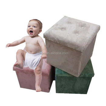 2017 foldable foam cube ottoman with storage
