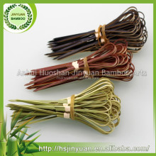 Eco-friendly color printed bamboo knot skewers/picks/sticks wholesale