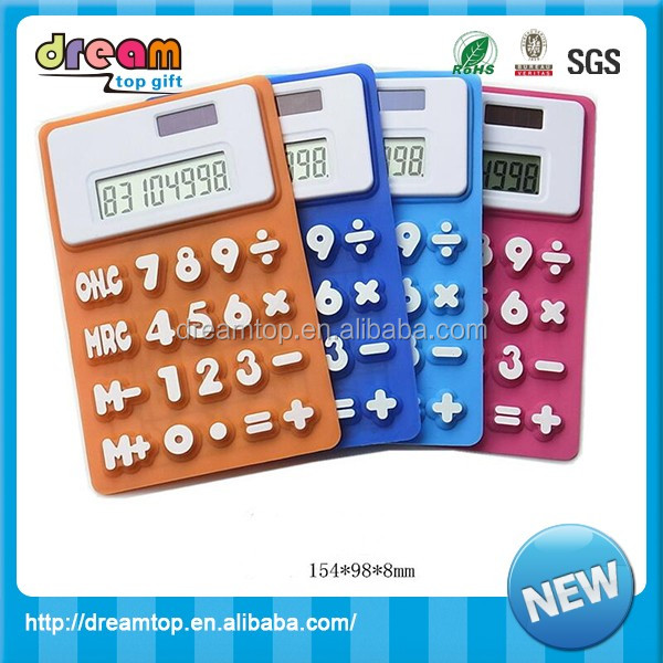 Candy Silicone Calculators Mini Hand Calculator Rubber Calculator