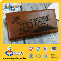 Customized Corporate Freebie Carved Genuine Leather