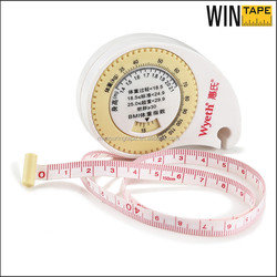 Personalized kids BMI calculator customized promotional body tape measure 150cm portable BMI measuring tape